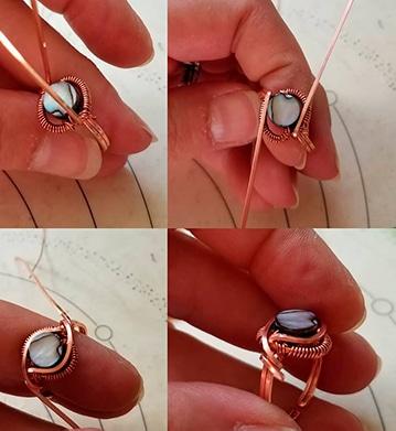 manualidades con alambre de cobre y piedras