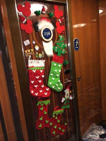 puertas forradas de navidad completas