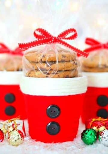 tazas navideñas con dulces de galletas