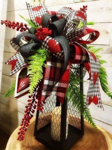 velas decoradas para navidad con cinta