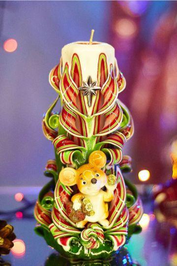 velas decoradas para navidad con papel regalo