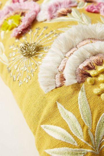 almohadas bordadas a mano elegante