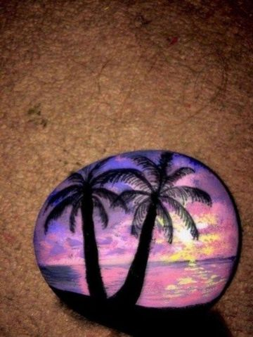 conchas pintadas a mano decorativas