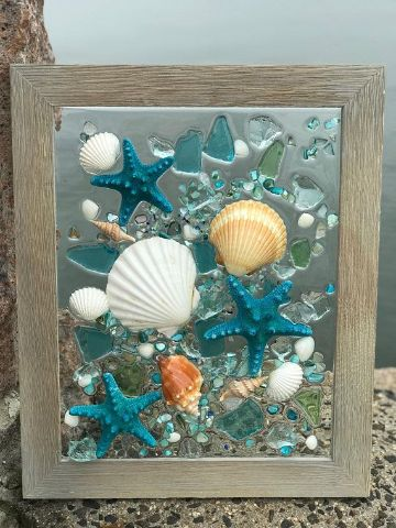 cuadros con estrellas de mar paso a paso