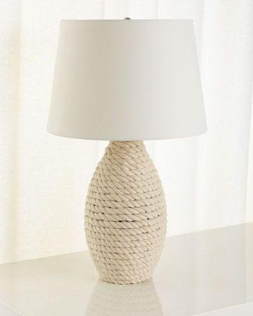 lamparas hechas con sogas para decorar
