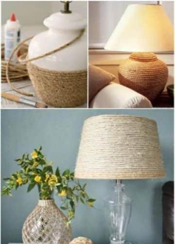 lamparas hechas con sogas para la casa