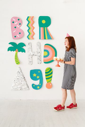 letras hechas de carton para fiesta
