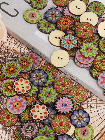 manualidades con botones de colores mandalas