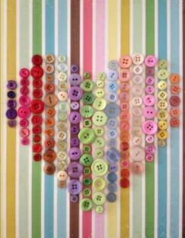 manualidades con botones de colores para casa