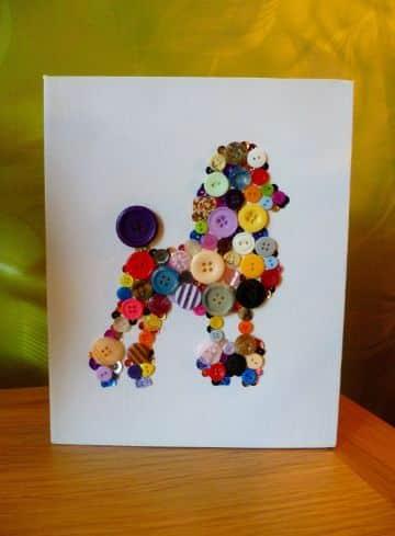 manualidades con botones de colores para decorar