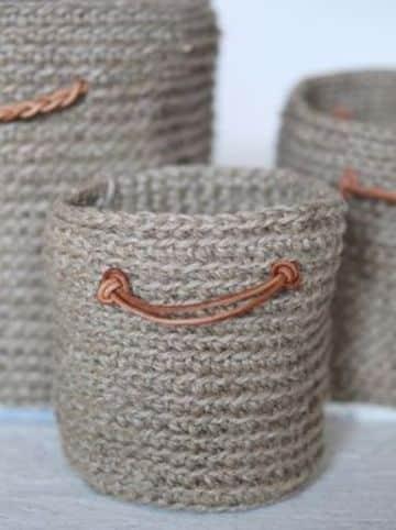 manualidades con soga de yute y recipientes