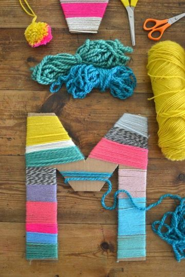 manualidades para hacer con lana y carton
