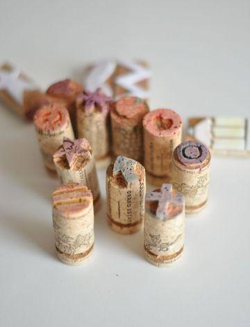souvenirs hechos con corchos para comunion