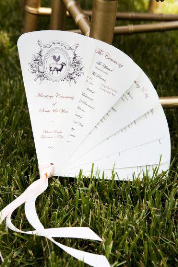 abanicos de papel para boda verticales