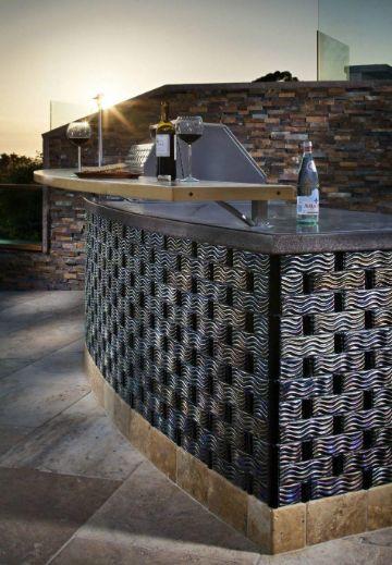barras decoradas con piedras para bares