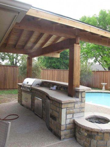 barras decoradas con piedras para patios