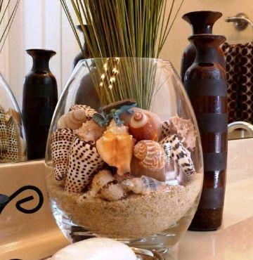 manualidades con arena de mar para la sala