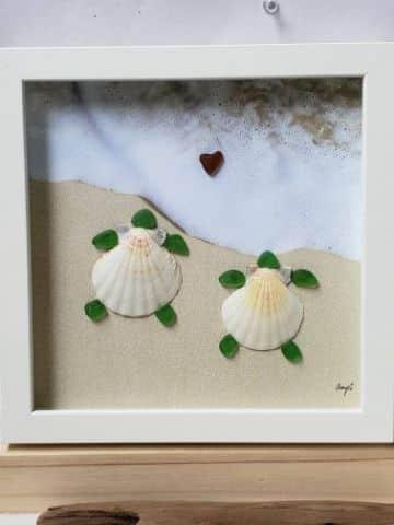 manualidades con arena de mar sencillas
