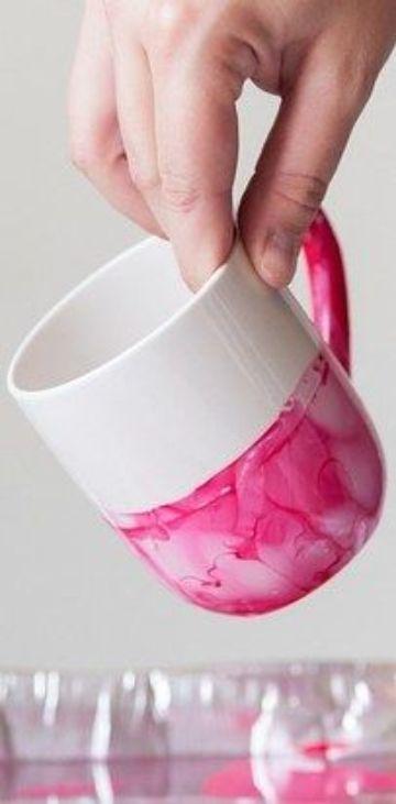 manualidades con esmalte de uñas decorativas