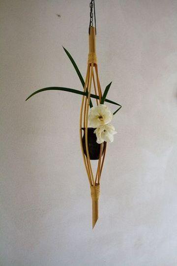 artesanias en caña de bambu para decorar
