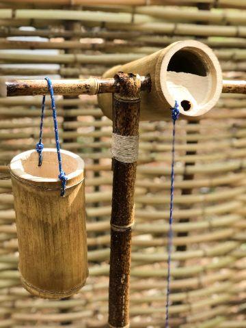 artesanias en caña de bambu para el jardin