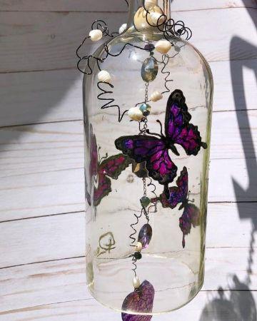 como hacer unas manualidades con botellas de cristal