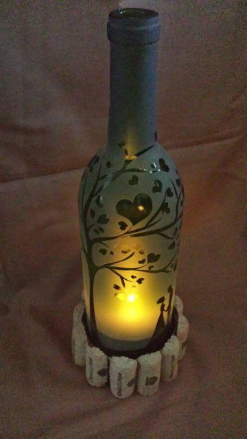 hermosas manualidades con botellas de cristal