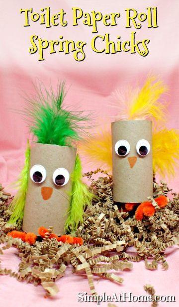 ideas para animales con rollos de papel