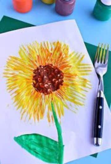ideas para manualidades con pintura para niños