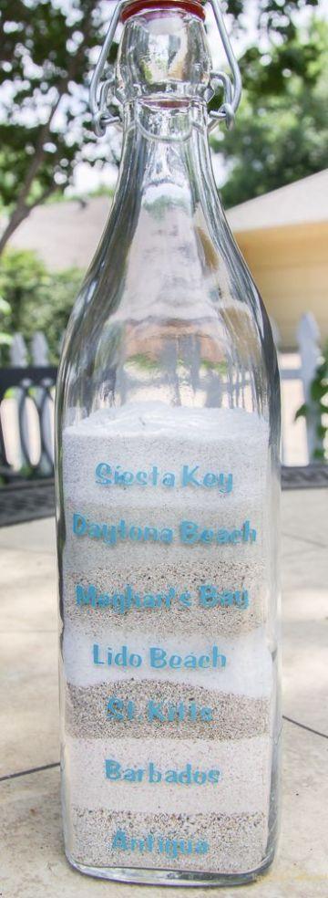 manualidades con arena de playa de viajes