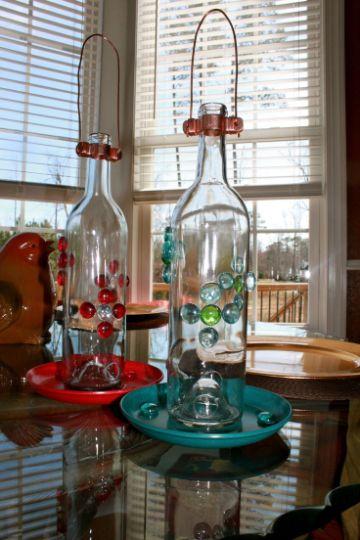 manualidades con botellas de cristal para decorar la cocina