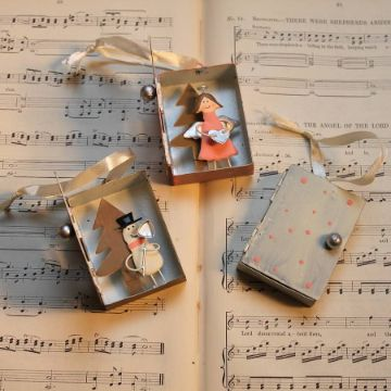 manualidades con cajas de fosforos para decorar