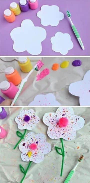 manualidades con pintura para niños faciles