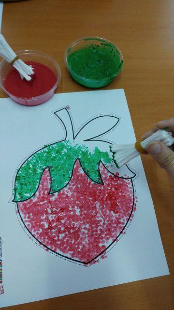 manualidades con pintura para niños pequeños