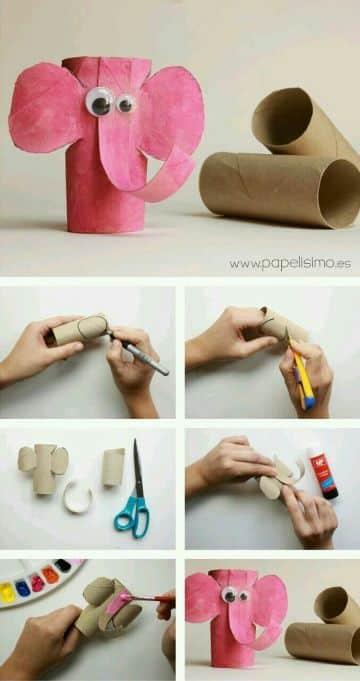 manualidades de animales con rollos de papel