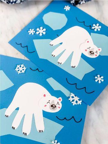 manualidades de invierno para niños con cartulina