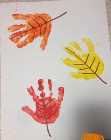 manualidades de otoño para niños con pintura