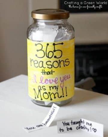 regalos para mama caseros en frascos de vidrio