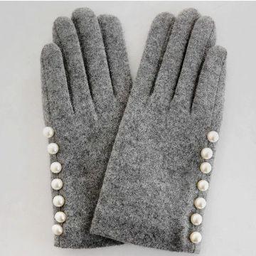 como hacer guantes de tela con lana