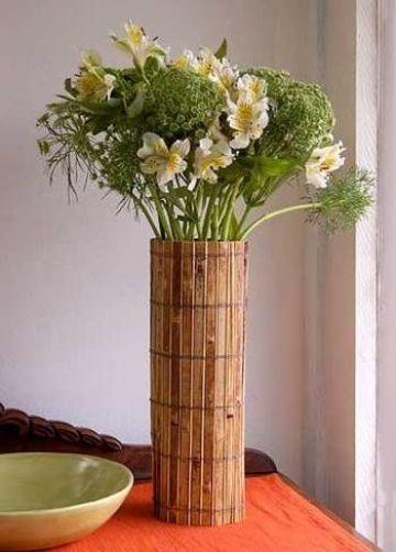 manualidades con bambu para el hogar para decorar