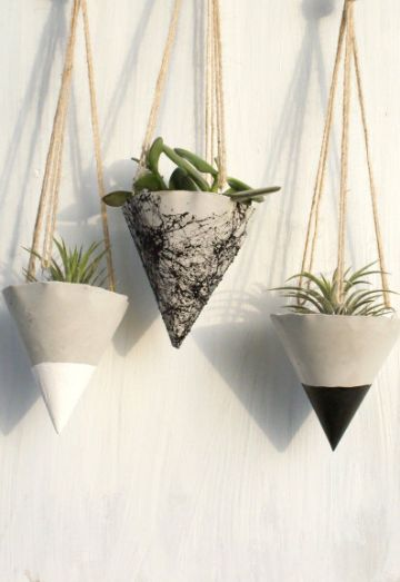 manualidades con cemento blanco para decorar