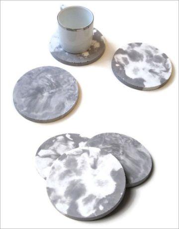 manualidades con cemento blanco para la casa