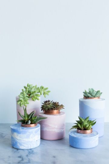 manualidades con cemento blanco sencillas