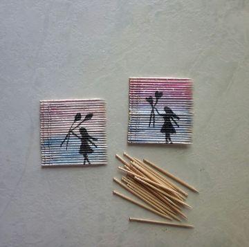 manualidades con palillos de dientes para niños