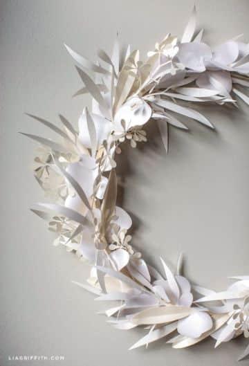 manualidades con papel blanco para navidad