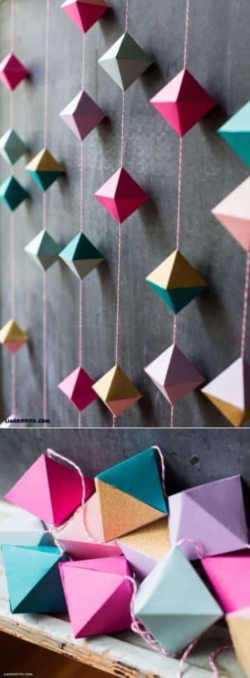 manualidades con papel lustre para decorar