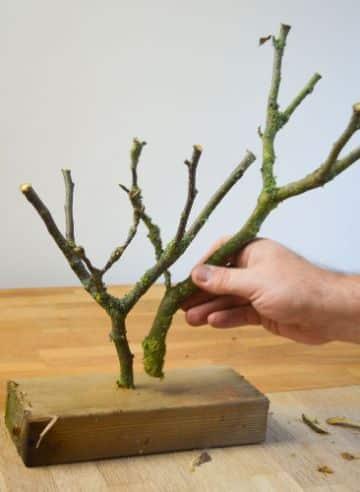 manualidades con troncos y ramas para decorar