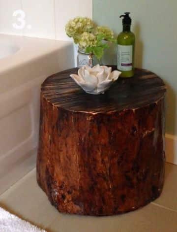 manualidades con troncos y ramas para el cuarto