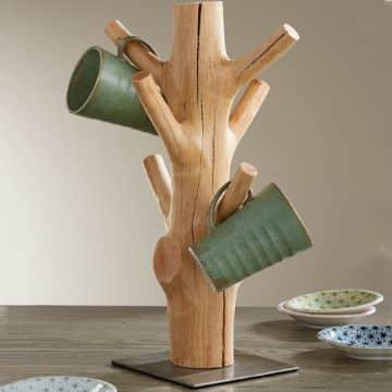 manualidades con troncos y ramas para la cocina