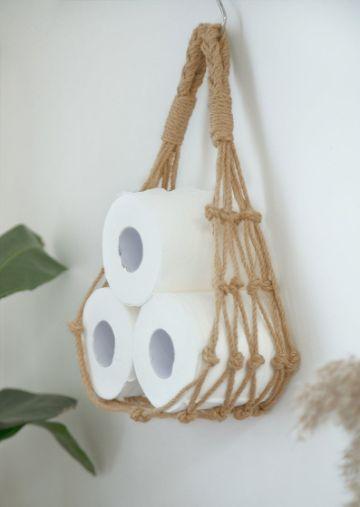 cosas hechas con cuerda para el baño